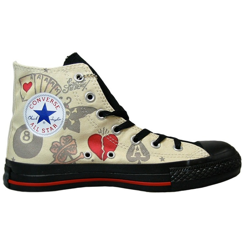 converse chucks schuhe all star hi grau rot schwarz ebay. Black Bedroom Furniture Sets. Home Design Ideas
